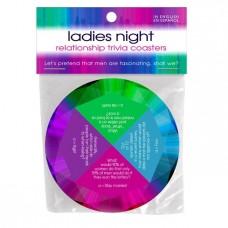 Ladies Night game relationship trivia coaster