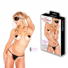 Kitten Allure Heartbreaker g-string, pasties set & blindfold one size