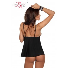 Black sexy chemise with thong by Beauty & Night